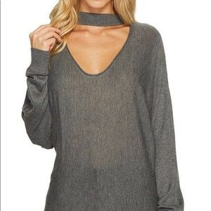 SPLENDID WOMENS CUT-OUT TWO-WAY PULLOVER SWEATER